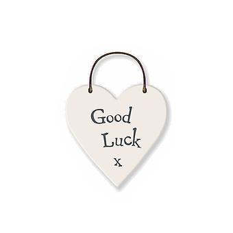 Good Luck - Mini Wooden Hanging Heart - Cracker Filler Gift