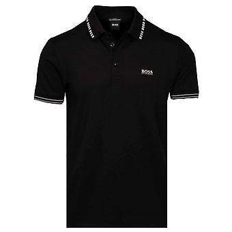 Boss Green Hugo Boss Paule Collar Logo Short Sleeve Polo Black 001 50452509