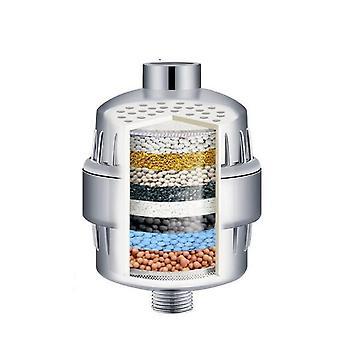 Filtre de douche à 17 étapes Filtres à eau de douche avec vitamine C Éliminer le fluorure de chlore