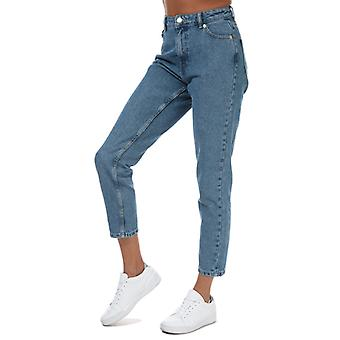 Solo mujer Jagger Life Mom Ankle Jeans en azul