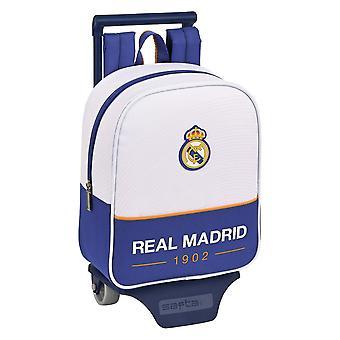 Zaino scuola con ruote Real Madrid C.F. Blu Bianco