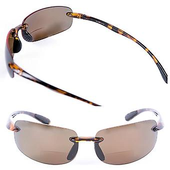 """Lovin Maui"" 2 Pair of Sport Wrap Non-Polarized Bifocal Sunglasses for Men and Women - Tortoise/Tortoise (Non-Polarized) - 3.00"