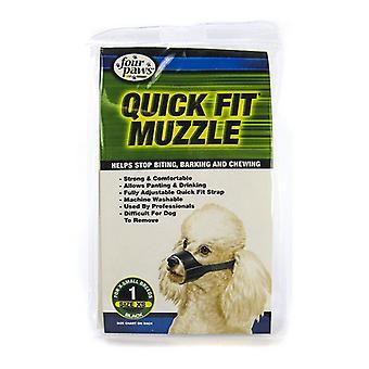"""Four Paws Quick Fit Muzzle - Siize 1 - Fits 5"""" Snout"""