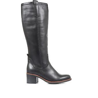 Gabor kvinners skinn blokk hæl støvler