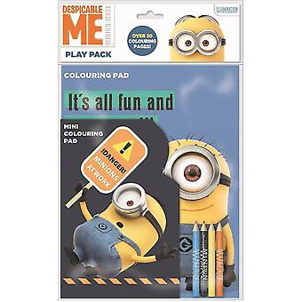 Despicable Me Play Pack Colouring Pads Pencils Childrens Activity Set Girls Kids