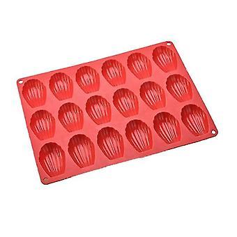 """אפיית גיליונות עוגיות 18 חלל עוגת סיליקון עובש תבניות מגש פח מדלן מדלן מחבתות עוגיות מלפ""""מ מגש אפייה 18"""