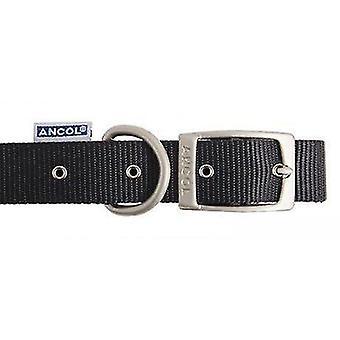 Pet leashes heritage nylon dog collar  medium  black