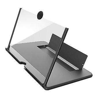Satellite phones 12 inch 3d phone screen magnifier hd video amplifier stand bracket with movie game magnifying