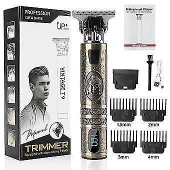 Professioneller Friseur Haarschneider USB elektrischer Haarschneider T-Outliner Schneiden Bartschneider Rasierer