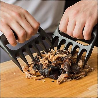 2pcs Bear Meat Claw Handler Barbecue Meat Cleaver Claw For Shredding Pork Beef