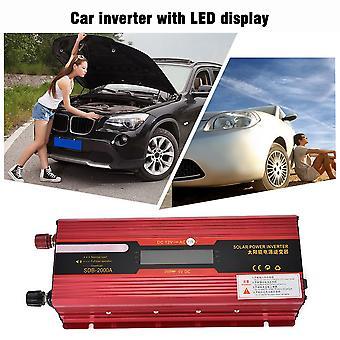 المحمولة 2000w الطاقة الشمسية سيارة العاكس شاشات الكريستال السائل عرض 12v-110v إمدادات الطاقة