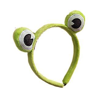 Schönes Stirnband mit einem Frosch und einem Kopfschmuck