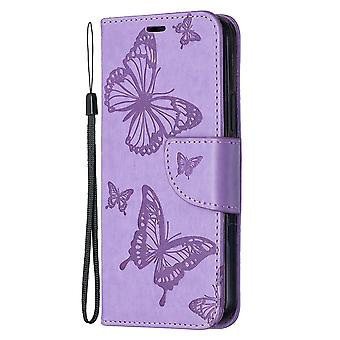 Flip Case For Iphone 12/12 Pro Embossed Butterfly Pattern