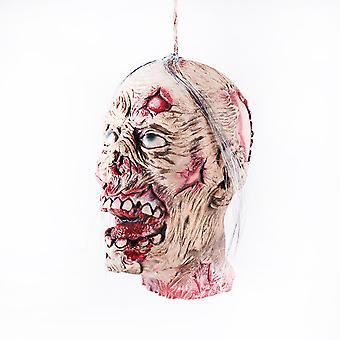 Horror Halloween Ghost Ornaments Skull Blood Demon Horror Halloween Props Ghost Hanger Haunted Props-male Head