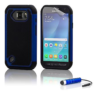 Shock proof case + stylus for Samsung Galaxy S6 Active (SM-G890) - Deep Blue
