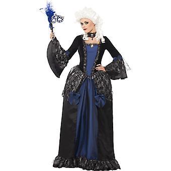 Barok kostuum vrouw Marie Antoinette jurk met peplos