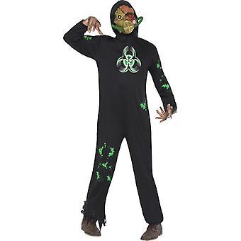 Biohazard nucléaire zombie mutant costume homme Halloween