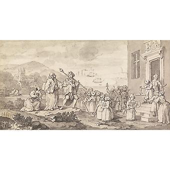 William Hogarth - Study for the Foundlings Poster Print Giclee