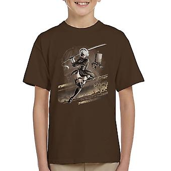 Nier Automata The Weight Of The World Kid's T-Shirt