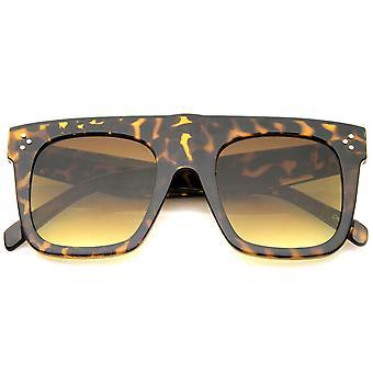 Moderne Fashion vet Flat Top Square hoorn omrande zonnebril 50mm