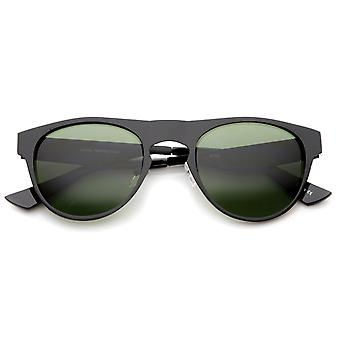 メンズ金属ホーン縁サングラス UV400 保護複合レンズ付き