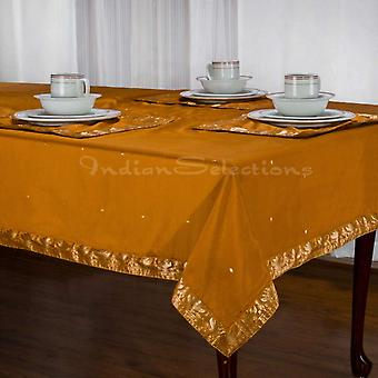 Mustard - Handmade Sari Tablecloth (India)