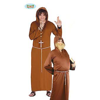 Far Friar munken kostyme cowl cassock mens en størrelse