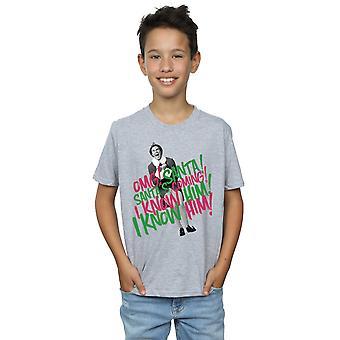 Elf jongens Santa's Coming T-Shirt