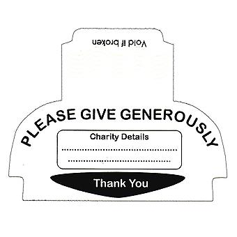 10 Security Seals / Labels for Square Charity Collection Boxes