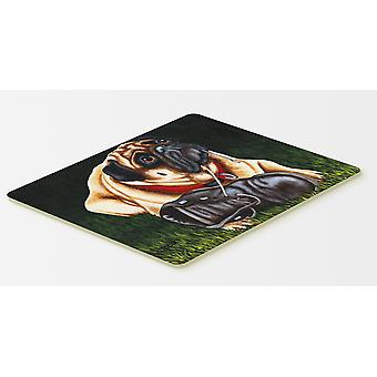 Carolines Treasures  AMB1382CMT Cluster Buster the Pug Kitchen or Bath Mat 20x30