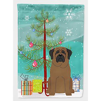 Carolines Treasures  BB4209GF Merry Christmas Tree Bullmastiff Flag Garden Size