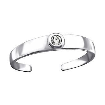 Round - 925 Sterling Silver Toe Rings - W26204X