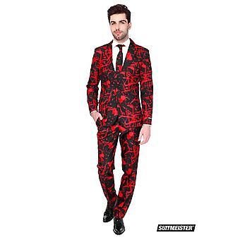 Zwart bloed Halloween Suitmeister slimline economie 3-delig kostuum