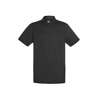 Fruit Of The Loom Mens Performance Wicking Quick Dry Three Button Polo Shirt