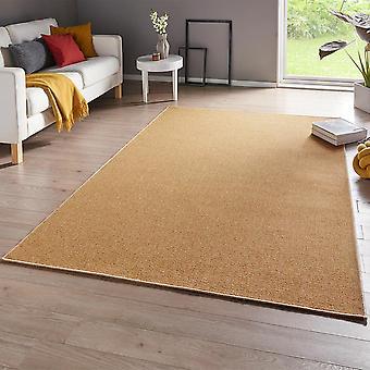 Fine loop carpet casual yellow uni-mix