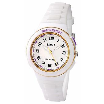 制限子供白い樹脂ストラップ ホワイト ダイヤル 5590.24 時計