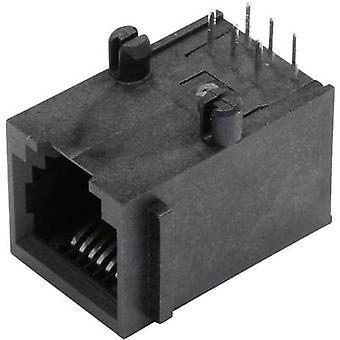Flanş soketli korumasız modüler monte li soket, yatay montaj Pim sayısı: 6P6C SS64600-015F Black BEL Stewart Konektörler SS64600-015F 1 adet(ler)