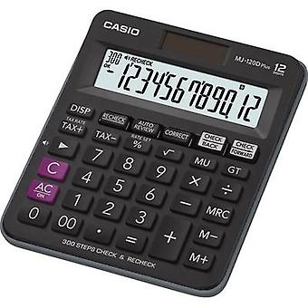 Casio MJ-120DPLUS Desk calculator Black Display (digits): 12 solar-powered, battery-powered (W x H x D) 126.5 x 28.6 x 148 mm