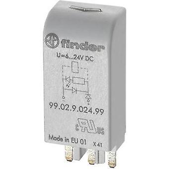 Finder plug-in module + RC Circuit 99.02.0.230.09 kompatibel med (typ): Finder 90,03, Finder 60.13.8.230.0040 1 PC (s)
