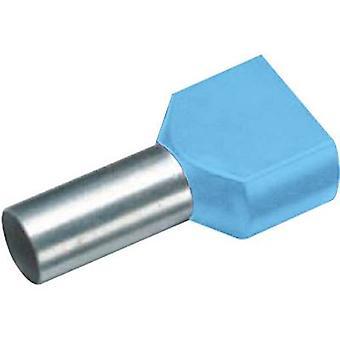 Vogt Verbindungstechnik 470208D Twin ferrule 0.75 mm2 Teilweise isoliert Blau 100 Stk.