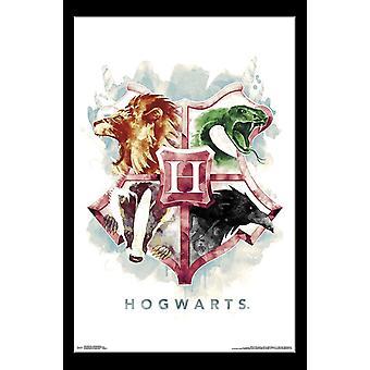 Harry Potter - Hogwarts Illustrated Poster Print