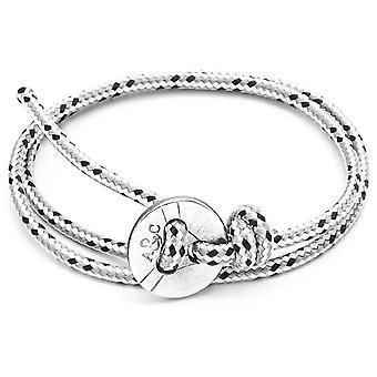 Âncora e tripulação Lerwick prata e pulseira - traço cinzento da corda