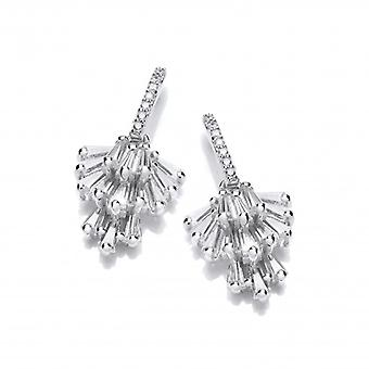 Cavendish French Silver & Cubic Zirconia Chandelier Drop Earrings