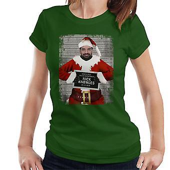 Joulu Mugshot Nick Knowles naisten t-paita