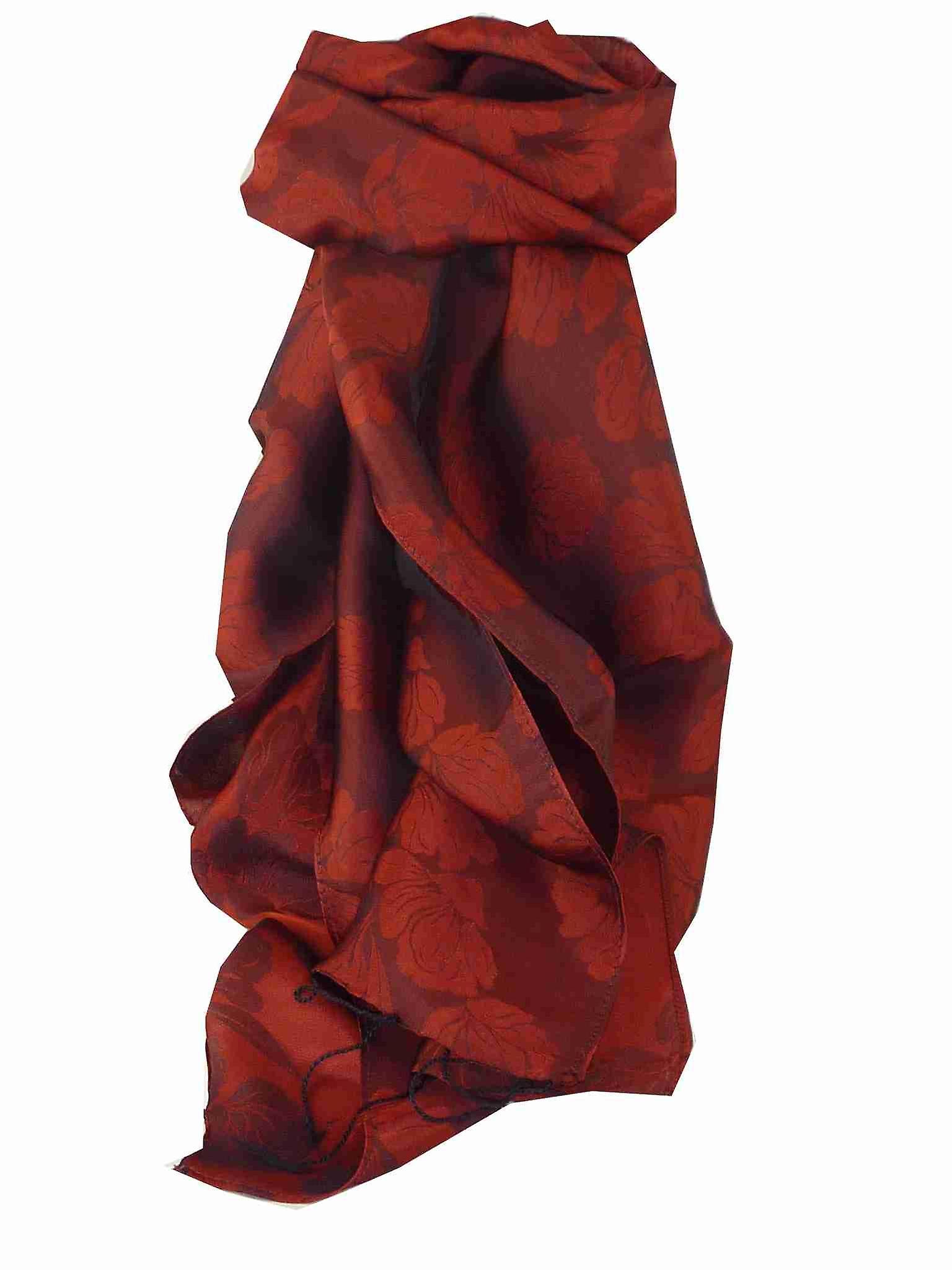 Vietnamese Silk Scarf Reversible Hoi-An Yen-Phu Ruby by Pashmina & Silk
