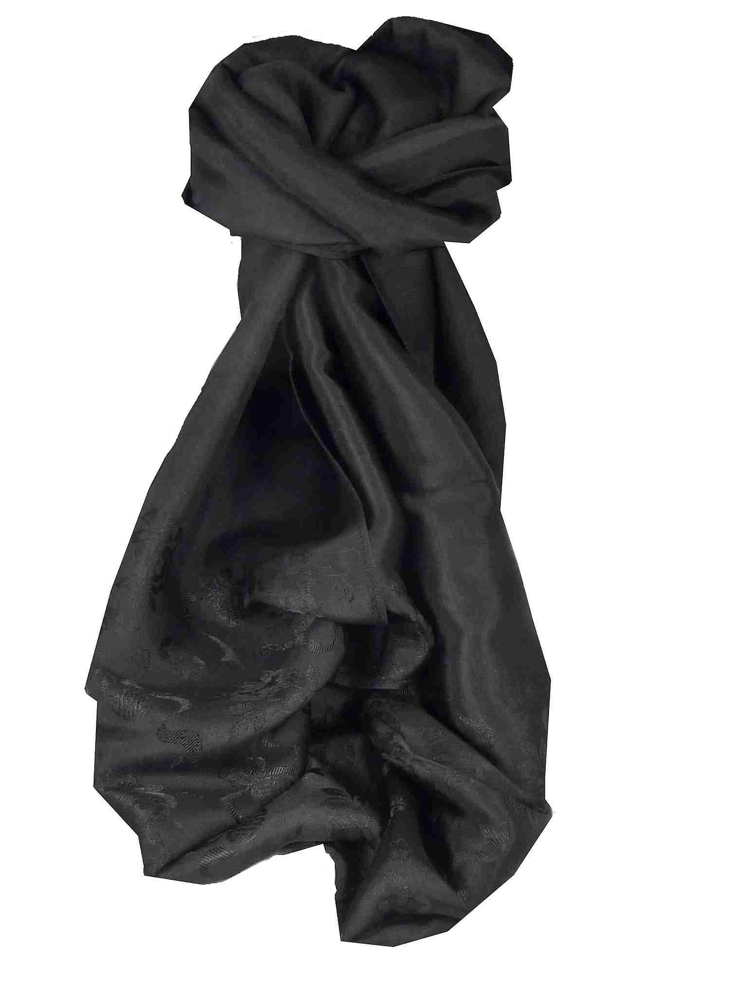 Vietnamese Silk Scarf Reversible Hoi-An Dong-Ha Black by Pashmina & Silk