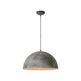 Lucide Mattie Industrial Round Metal Grey Pendant Light