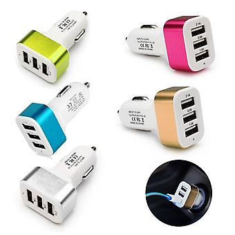 Stuff Certified® chargeur de voiture 3-Port à grande vitesse 10-Pack - Carcharger - 5 couleurs