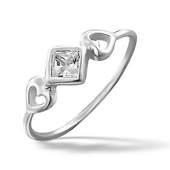 Herzen - jeweled 925 Sterling Silber Ringe - W16338X