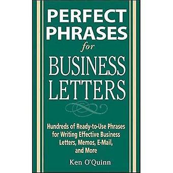 Perfekt fraser för affärsbrev (perfekt fraser)
